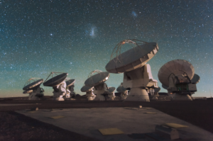 Antennas of the Atacama Large Millimeter/submillimeter Array (ALMA), on the Chajnantor Plateau. Credit: ESO/C. Malin