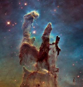 Pillars of Creation in the Eagle Nebula. Credit: NASA, ESA and the Hubble Heritage Team (STScI/AURA)
